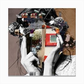 Crazy Woman LisaLara Mix Canvas Print