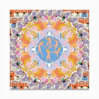 Kaleidoscope Square Canvas Print