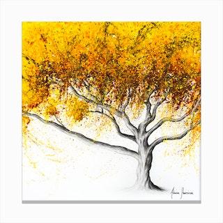 Sunflower Fire Tree Canvas Print