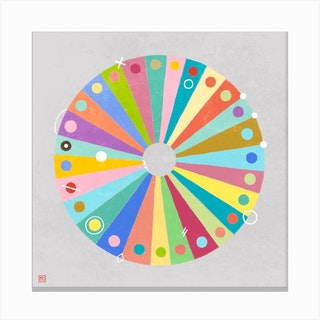 Slices Of Color Mandala Canvas Print