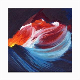 Antelope Canyon Square Canvas Print