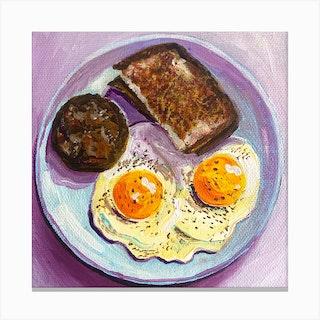 Breakfast Square Canvas Print