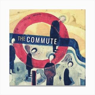 London Commute Square Canvas Print