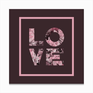 Succulent Love Canvas Print