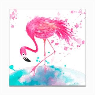 Flamingo 2 Canvas Print