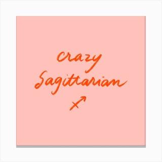 Sagittarius Square Canvas Print