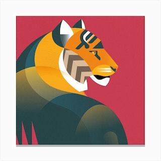 Bengal Tiger Square Canvas Print