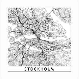 Stockholm Map  I Canvas Print