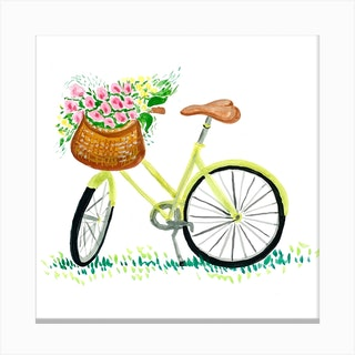 Bicycle Square Canvas Print