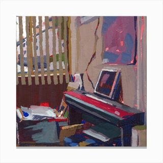 Corner Piece Square Canvas Print