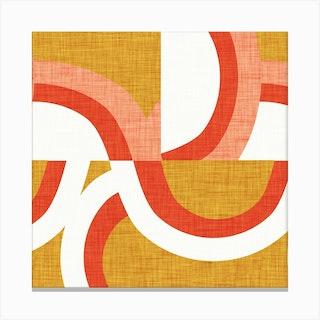 New Mid Mod Freeway Mustard Square Canvas Print