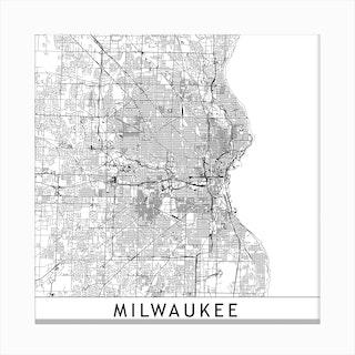 Milwaukee Map Canvas Print