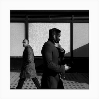 Men In Streets Canvas Print