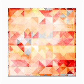 Abstract Watercolor Geometric I Canvas Print