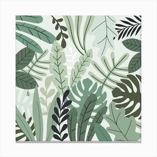 Jungle Love Square Canvas Print