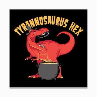 Tyrannosaurus Hex Canvas Print
