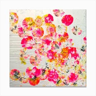 Cherry Blossom Square Canvas Print