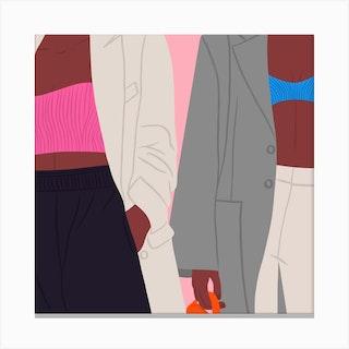 Street Style Square Canvas Print