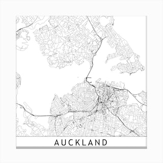 Auckland Map Canvas Print