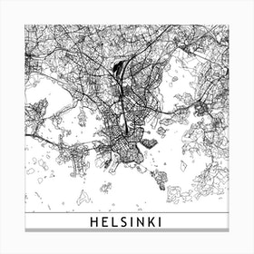 Helsinki Map Canvas Print