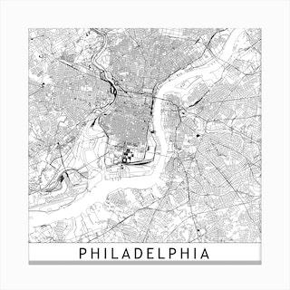 Philadelphia Map Canvas Print