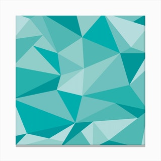 Fifty Shades of Green - Square Canvas Print