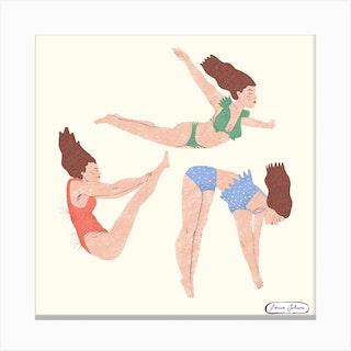 Somersault Ladies Square Canvas Print