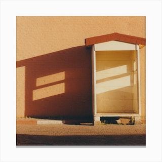 Moroccan Shadows Square Canvas Print