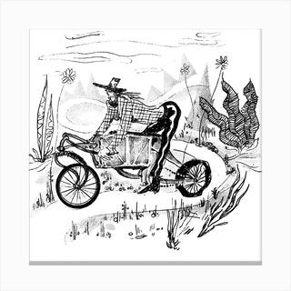 Bike 2 Square Canvas Print