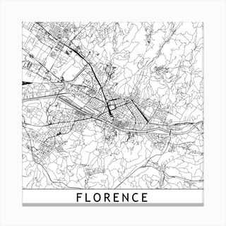 Florence Map Canvas Print