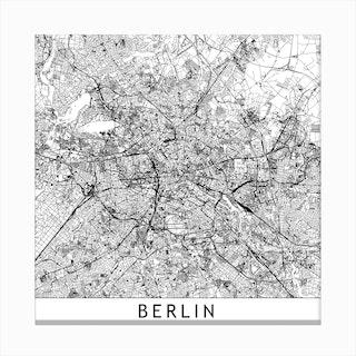 Berlin Map  I Canvas Print
