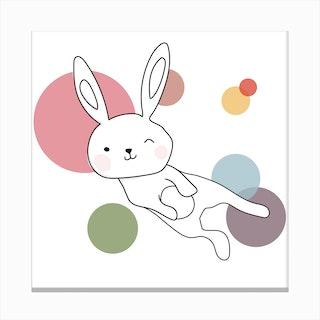 Space Rabbits Selena Canvas Print