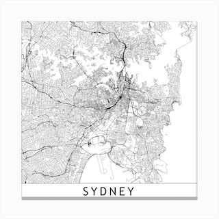 Sydney Map Canvas Print