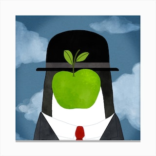 The Penguin Of Man Magritte Art Series Canvas Print