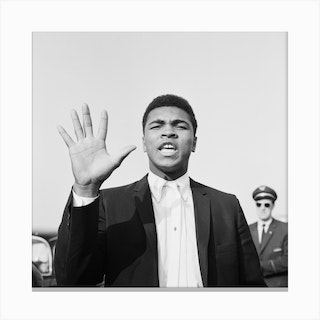 Cassius Clay In London For His Non Title Clash With Henry Cooper Canvas Print