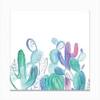 Abstract Cacti Canvas Print