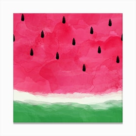 Watermelon Abstract Square Canvas Print