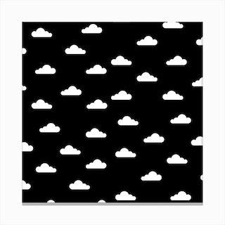 Cloudy Day X Dark Night Canvas Print