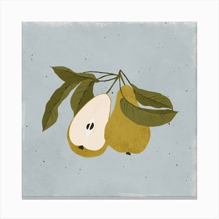 Pair Of Pears Square Canvas Print