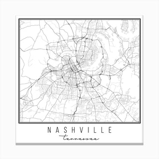 Nashville Tennessee Street Map Canvas Print