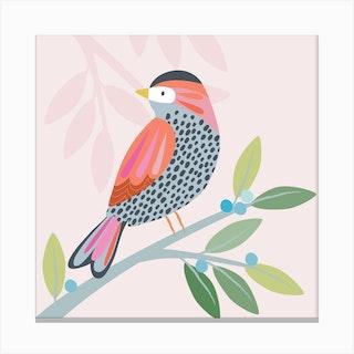 Little Bird Square Canvas Print