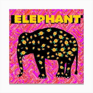 Elephant Square Canvas Print