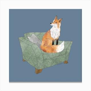 Mr Fox Square Canvas Print