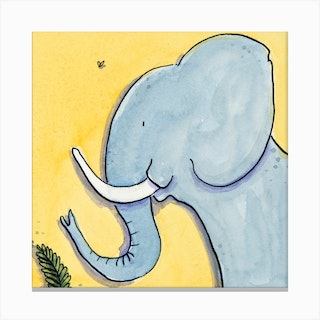 Marjory Elephant Square Canvas Print
