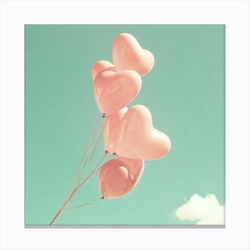 Heart Balloons Canvas Print