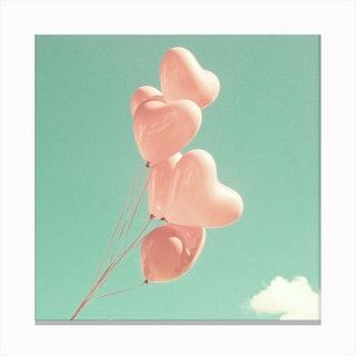 Heart Balloons Canvas Print