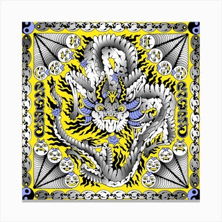 Dragon Square Canvas Print