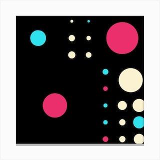 Yayay Dots Poppy Square Canvas Print