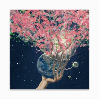 Love Makes the Earth Bloom Canvas Print