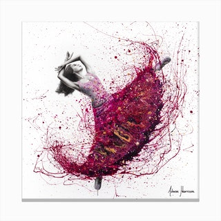 Magenta Night Dance Canvas Print